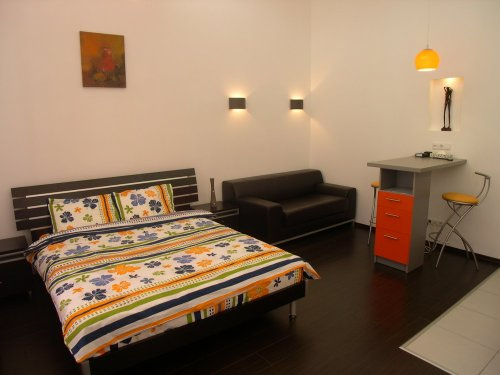Rent luxury studio apartment in Kiev at Saksahanskoho 12a Stadium